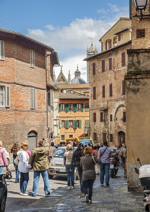 La ciudad italiana de Siena es el rival eterno de Florencia imagen de archivo libre de regalías