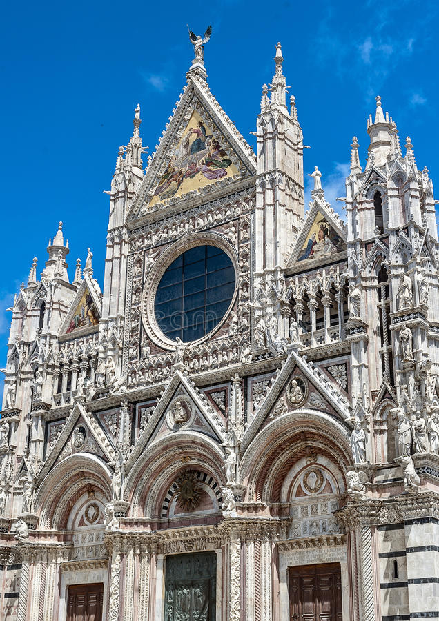 La ciudad italiana de Siena es el rival eterno de Florencia fotografía de archivo libre de regalías