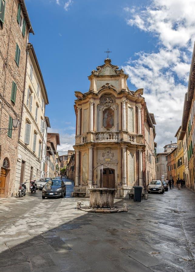La ciudad italiana de Siena es el rival eterno de Florencia fotografía de archivo