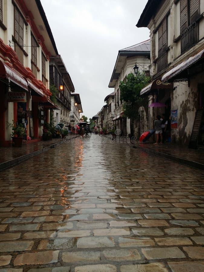 La ciudad más vieja en las Filipinas foto de archivo
