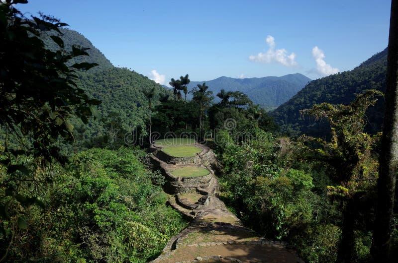 La Ciudad Perdida, borttappad stad för Colombia ` s arkivbilder