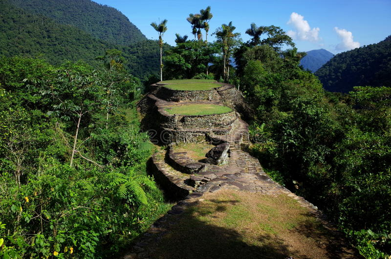 La Ciudad Perdida, de Verloren Stad van Colombia ` s royalty-vrije stock afbeeldingen