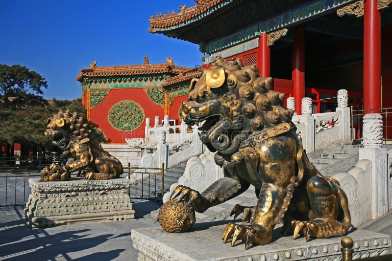 La ciudad prohibida histórica en Pekín fotos de archivo