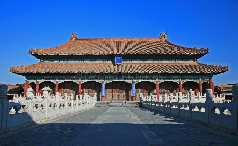 La ciudad prohibida histórica en Pekín fotografía de archivo libre de regalías