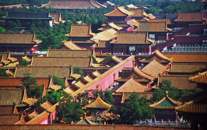 La ciudad prohibida, Pekín fotografía de archivo