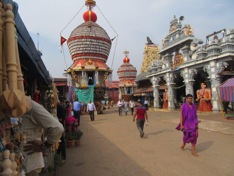 La ciudad sagrada Udupi del templo imagen de archivo