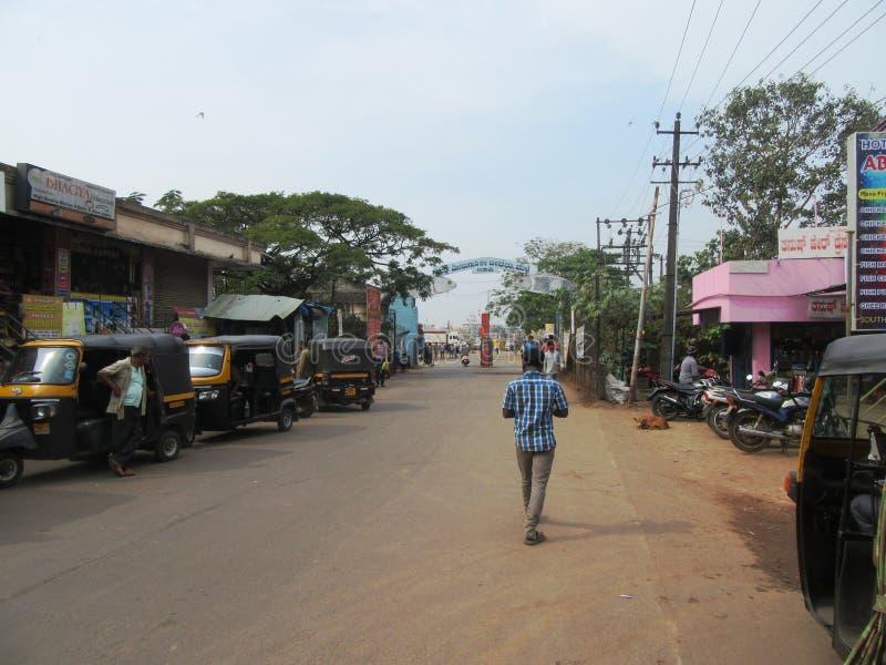 La ciudad sagrada Udupi del templo fotos de archivo
