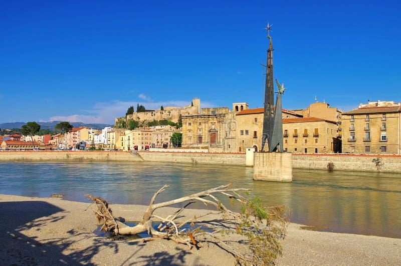 La ciudad Tortosa en España fotos de archivo