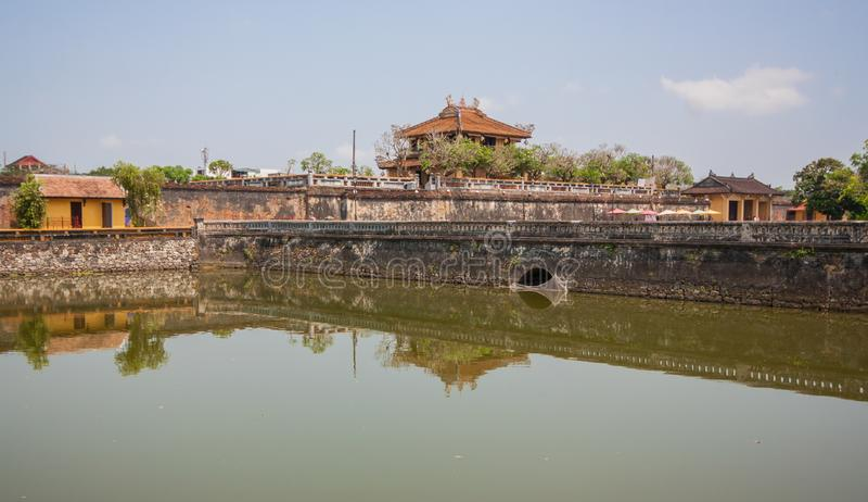 La ciudad vieja asombrosa de la tonalidad, Vietnam foto de archivo libre de regalías