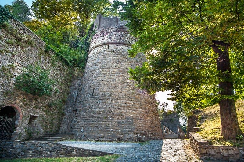La ciudad vieja de Bérgamo Lombardía imagen de archivo