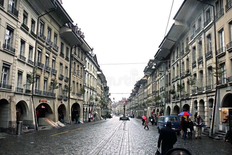 La ciudad vieja de Berna en Suiza imagen de archivo libre de regalías