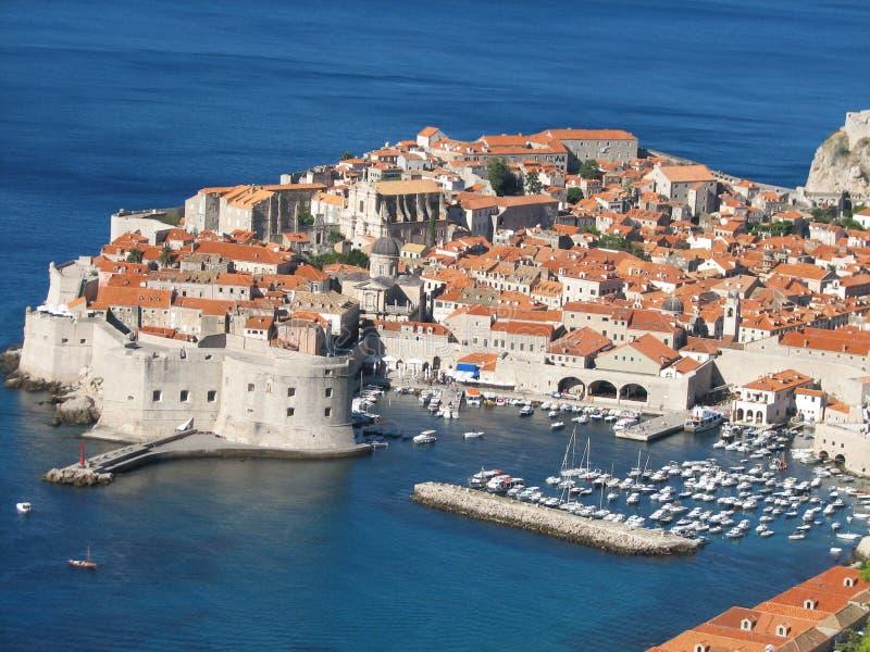 La ciudad vieja de Dubrovnik foto de archivo