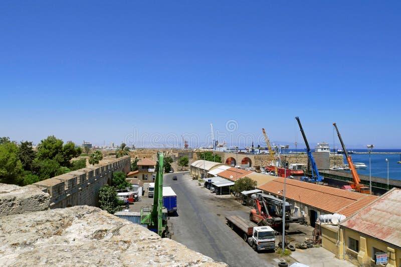 La ciudad vieja de Famagusta, Chipre septentrional fotografía de archivo libre de regalías