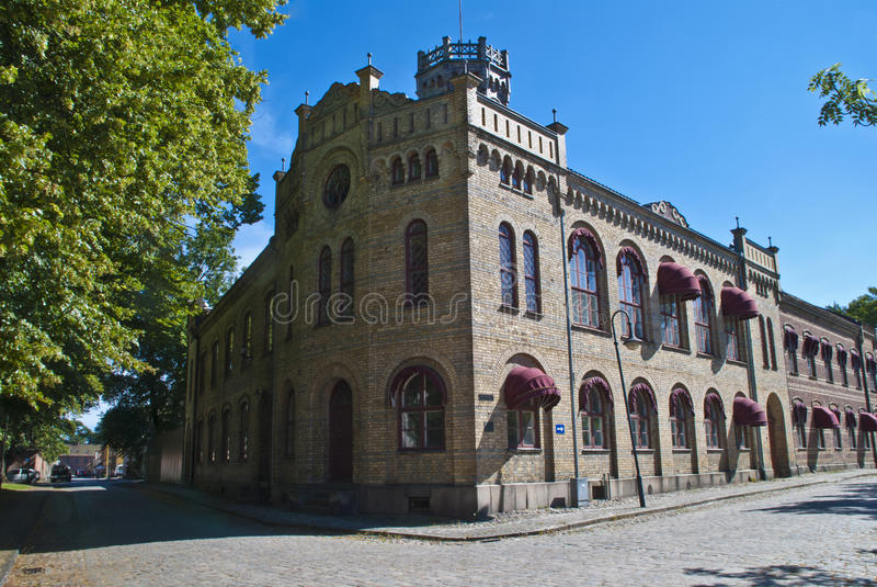 La ciudad vieja en el fredrikstad (prisión de las mujeres) foto de archivo libre de regalías