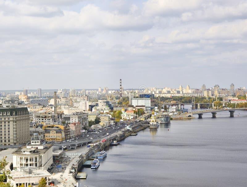 La ciudad vieja hermosa de Kiev fotos de archivo libres de regalías
