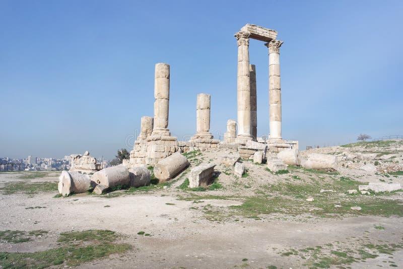La ciudadela, Amman, Jordania imagen de archivo libre de regalías