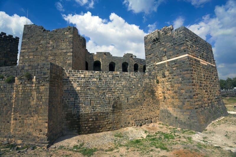 La ciudadela en Bosra foto de archivo