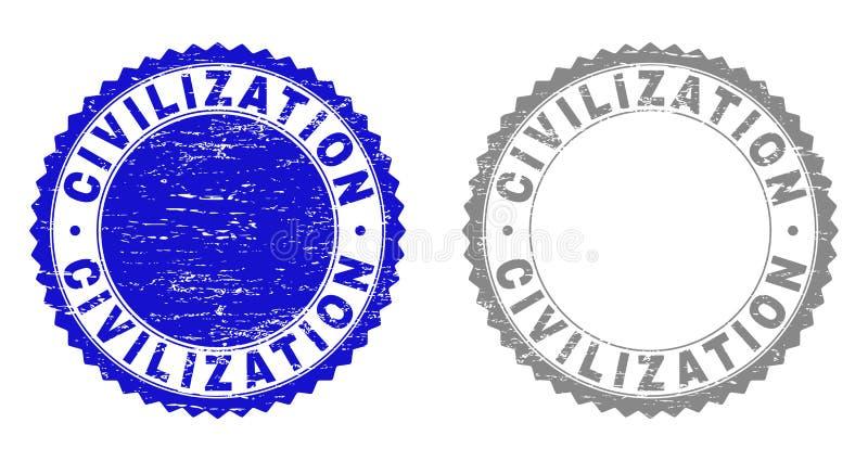 La CIVILIZZAZIONE di lerciume ha strutturato le filigrane illustrazione vettoriale