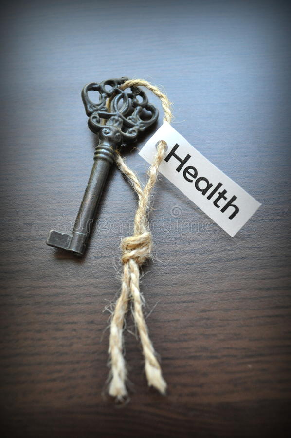 La clé à la santé image stock