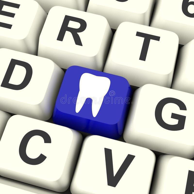 La clé de dent signifie le rendez-vous dentaire ou les dents illustration libre de droits