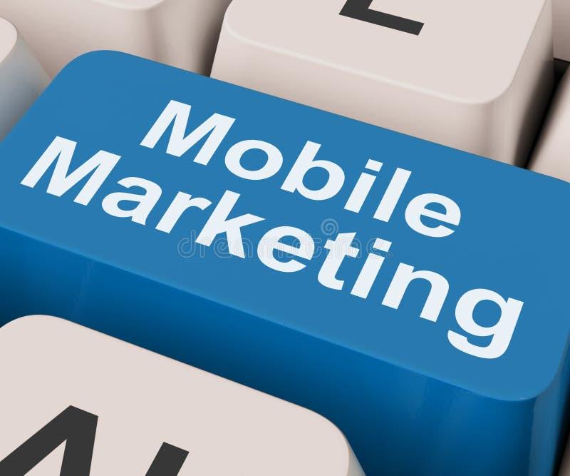 La clé mobile de vente montre des ventes et la promotion en ligne photographie stock libre de droits