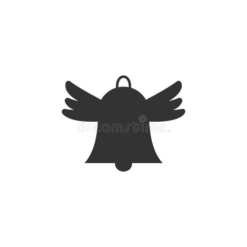 La cloche de main, icône d'ailes peut être employée pour le Web, logo, l'appli mobile, UI, UX illustration libre de droits