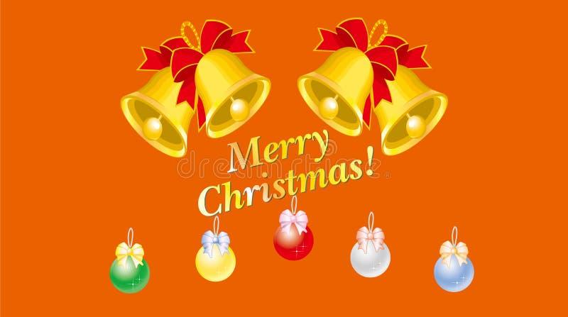 La cloche de Noël, la couleur de la boule images stock