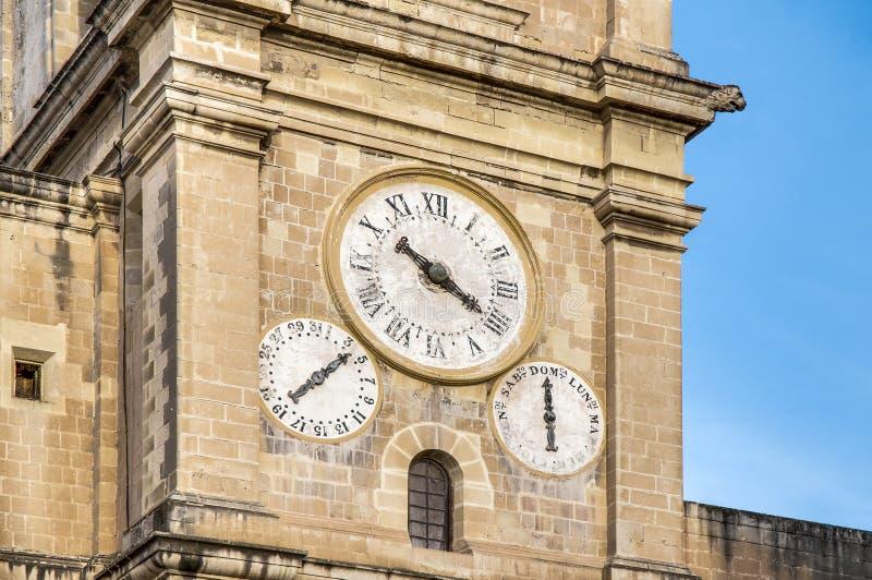 La Co-Catedral de San Juan en La Valeta, Malta imagen de archivo