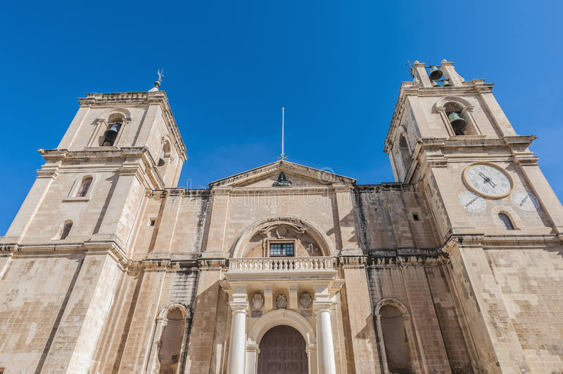 La Co-Cathédrale de St John à La Valette, Malte image libre de droits