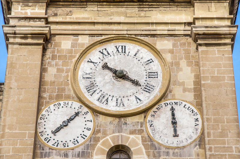 La Co-cathédrale de St John à La Valette, Malte photos stock
