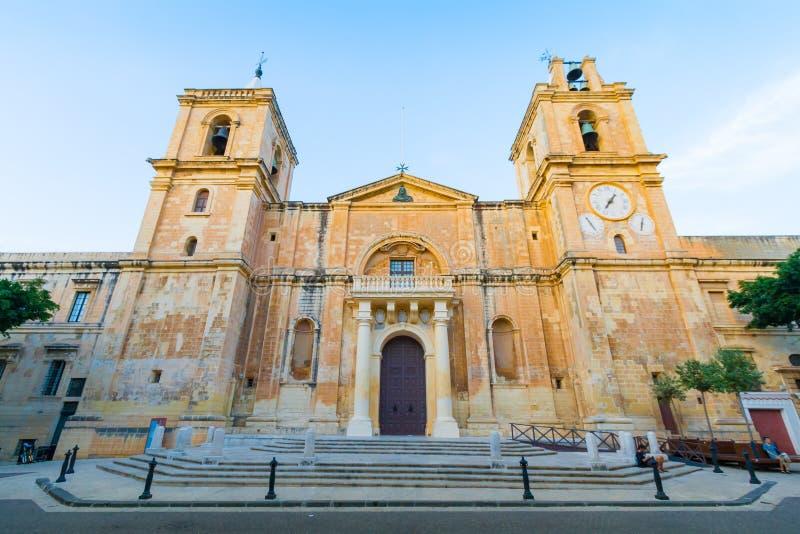 La Co-cathédrale du ` s de St John à La Valette, Malte photos stock