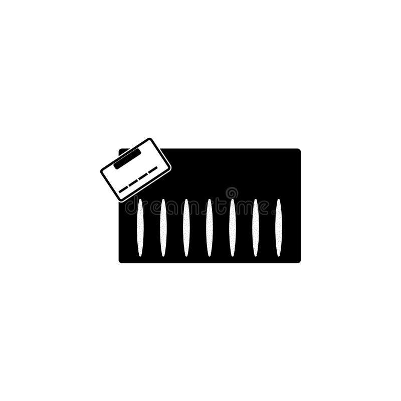 la cocaïne dépiste l'icône Éléments de mauvaise habitude pour les apps mobiles de concept et de Web Icône pour la conception de s illustration de vecteur