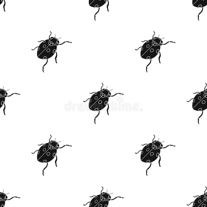 La coccinelle est un arthropode Le scarabée d'insecte, icône simple de coccinelle dans l'illustration isométrique de style de vec illustration libre de droits