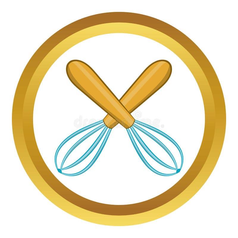 La cocina cruzada bate el icono ilustración del vector