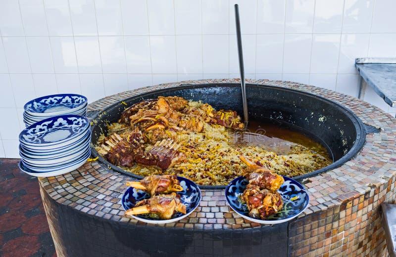 La cocina del Uzbek imagen de archivo