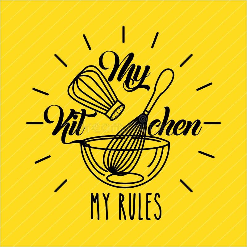 La cocina gobierna completamente libre illustration