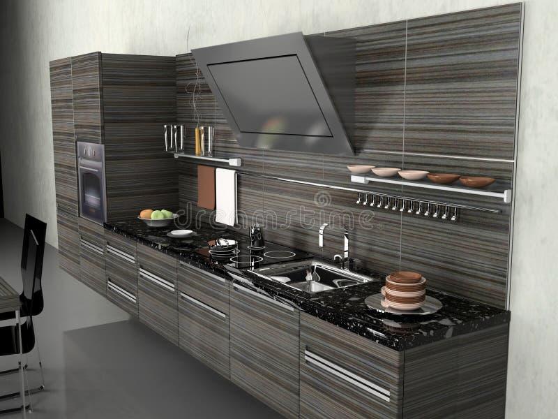 La cocina moderna ilustración del vector