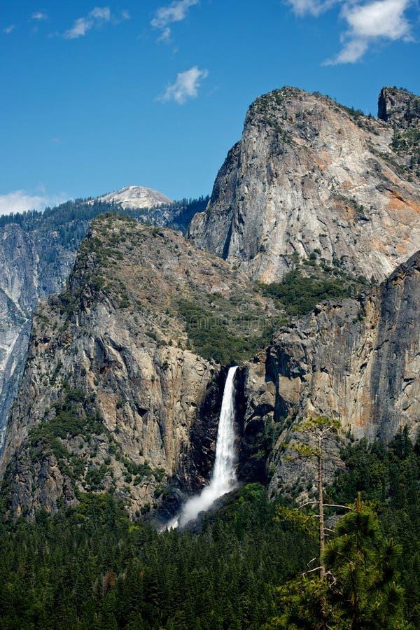 La cola de caballo cae en el parque nacional de Yosemite foto de archivo libre de regalías
