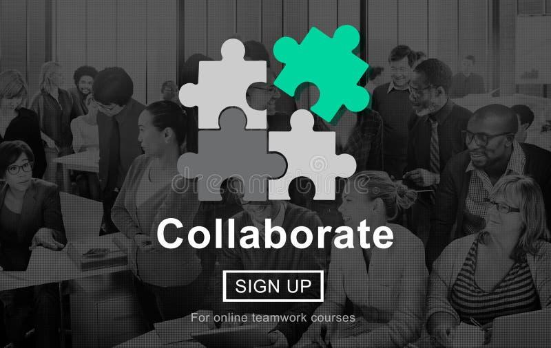 La colaboración colabora concepto corporativo de la conexión ilustración del vector