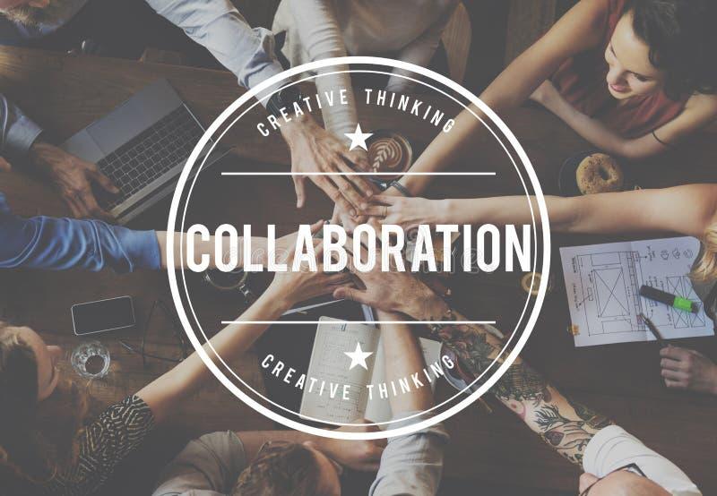 La colaboración de la compañía asocia concepto de la cooperación fotografía de archivo