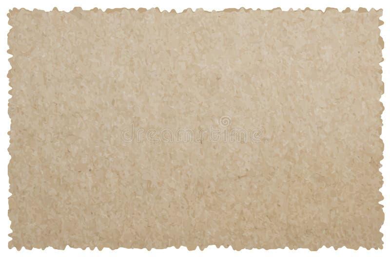 La colección de blanco rasgó pedazos de documento de noticias encendido sobre la parte posterior del blanco stock de ilustración