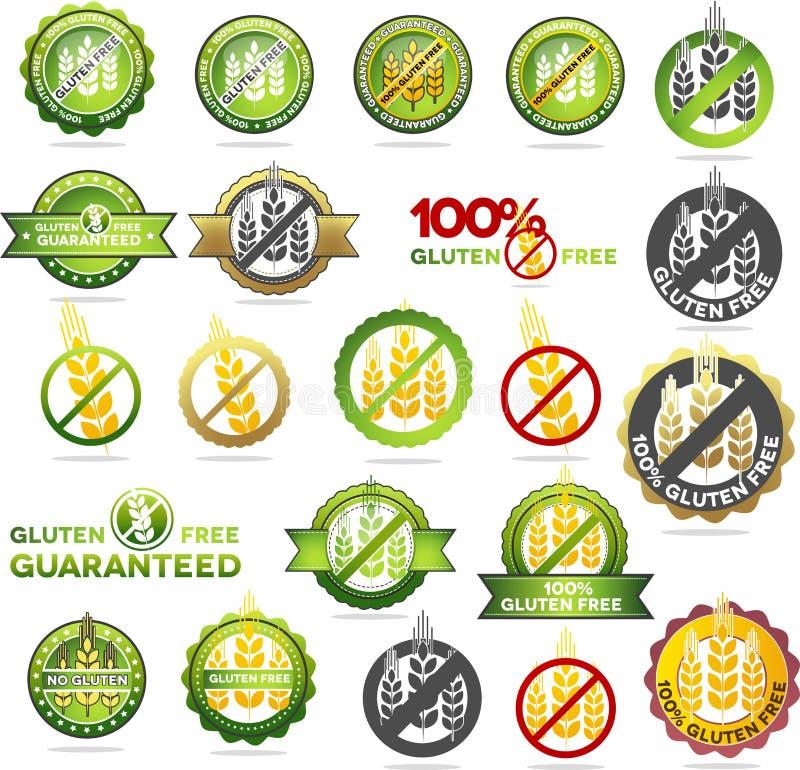 La colección de gluten libera los sellos libre illustration