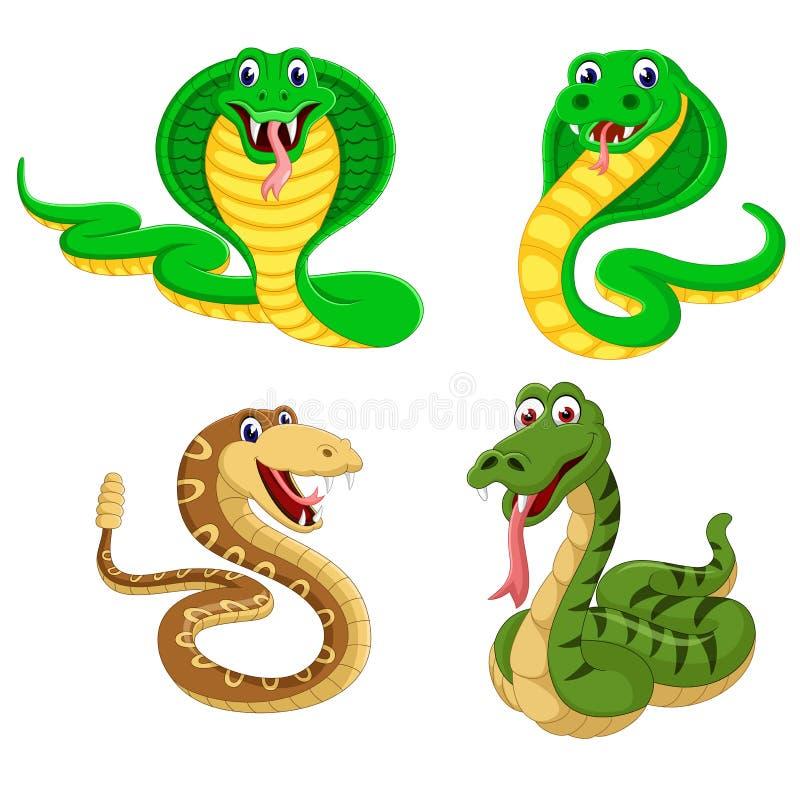 La colección de las serpientes grandes en la diversa expresión libre illustration