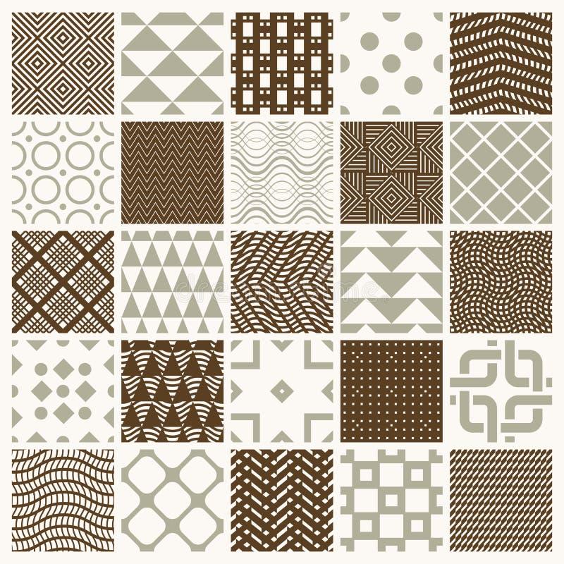 La colecci?n de composiciones incons?tiles del extracto del vector mejores para el uso como papeles de embalaje, los fondos adorn ilustración del vector