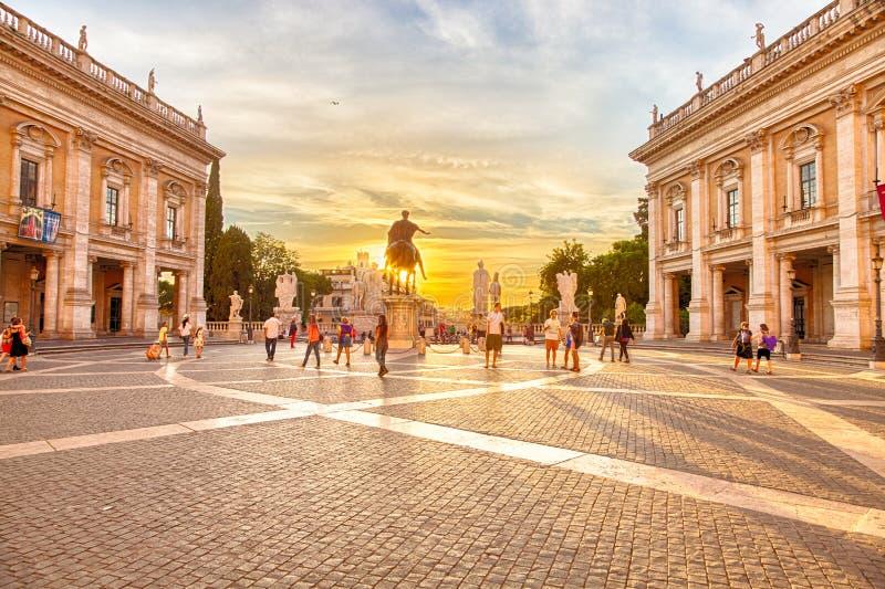 La colina de Capitoline imágenes de archivo libres de regalías
