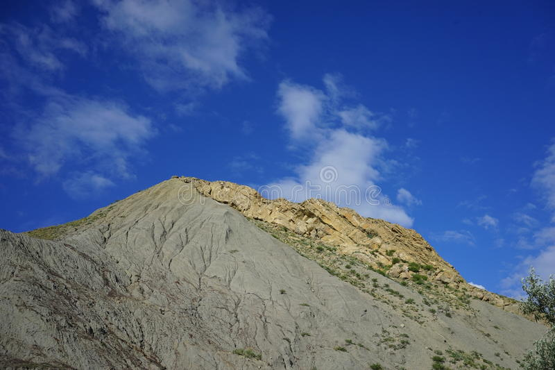 La colina del origen volcánico fotografía de archivo libre de regalías