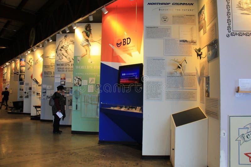 La collection étendue d'articles commencent dans le Maryland, exhibé dans le musée de l'industrie, Baltimore, 2017 images libres de droits