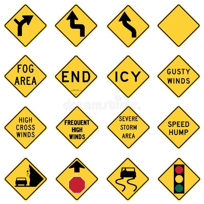 Le trafic avertissement panneau dedans les Etats-Unis illustration stock