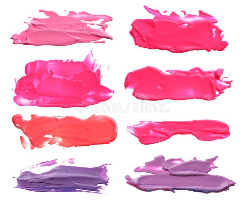 La collection de courses acryliques abstraites de brosse de couleur éponge photos stock