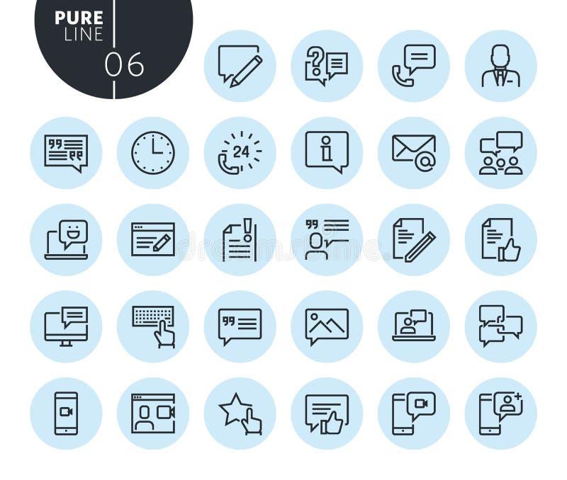 La collection de media social de qualité de la meilleure qualité et la mise en réseau rayent des icônes illustration libre de droits